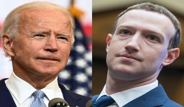 Zuckerberg Biden facebook big tech censorship