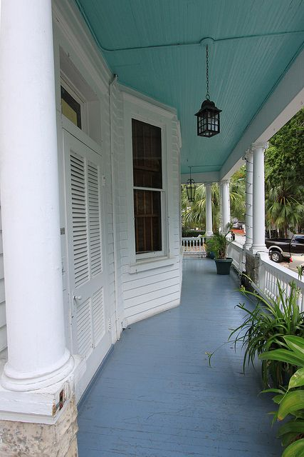 People are Painting Their Porch Ceiling Blue, HERE is Why